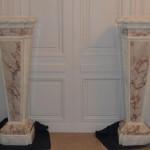 Gaines en faux marbres réalisés pour le musé de la céramique de Rouen
