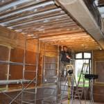 Restauration en cours : reprise  des fonds dégradés