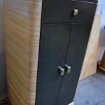 Imitation cuir et faux bois façon ébène blanc